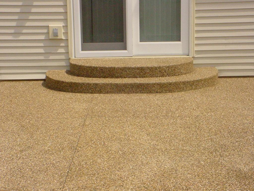 Stamped Concrete Patio U0026 Step